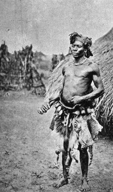 V0015953 A Binsa sorcerer or shaman, Congo. Halftone.